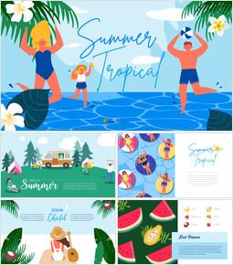 여름 일러스트레이션 비즈니스 프레젠테이션 PPT_00