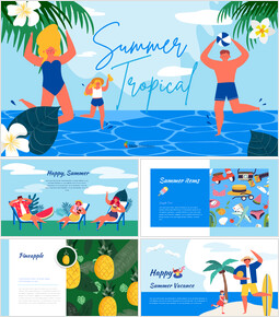 Summer Illustration Presentation Google Slides Templates_00