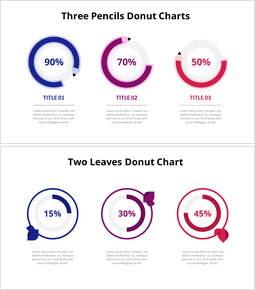 Three Steps Progress Donut Graph Chart Animated Slides_18 slides