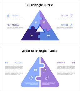 Diagramma di animazione puzzle a forma di triangolo e casa_12 slides