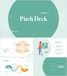 Unique Pitch Deck Design PowerPoint for mac_00