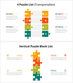 Vertical Puzzle List Diagram Animated Slides_10 slides