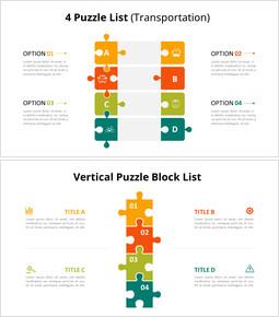 Diapositive animate con diagramma elenco puzzle verticale_10 slides