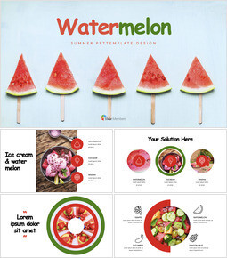 Watermelon Keynote Design_40 slides