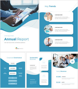 Wave Design Annual Report Easy Google Slides Template_00