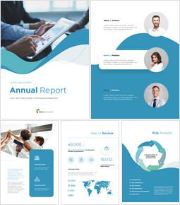 Wave Design Annual Report Simple Templates Design_00