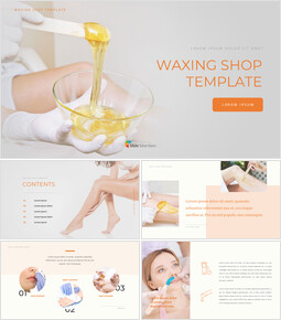 Waxing Shop Google Slides Template Design_40 slides