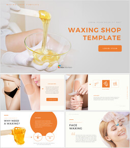 Waxing Shop PPT Background Images_00