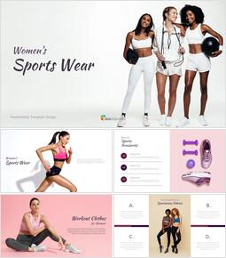 여성용 스포츠웨어 구글슬라이드 템플릿 디자인_00