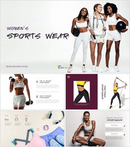 Women\'s Sports Wear Modern PPT Templates_00