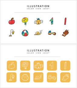 10 Illustrazione Icone di design piatto_3 slides