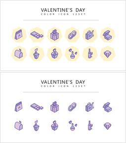 12 Valentine\'s Day Icons Set Vector_2 slides