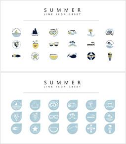 18 Summer Icons Set Vector_3 slides