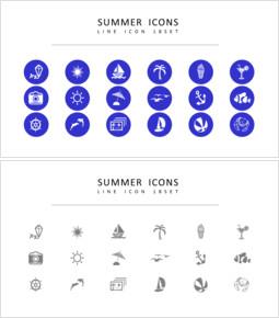 18 Sommer Vektorsymbole eingestellt_00