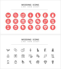 21 Hochzeit Icons Set Vector_00