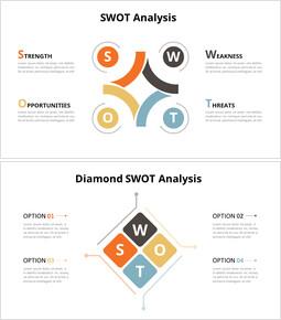 Animated Diagram - Diamond SWOT Analysis Diagram_8 slides