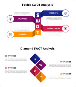 Animated Diagram - Vertical SWOT Analysis Diagram_8 slides