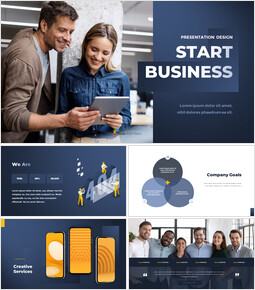 Animated Templates - Start Business Presentation Design powerpoint animation_00