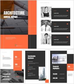 Architecture Annual Report Template Custom Google Slides_00