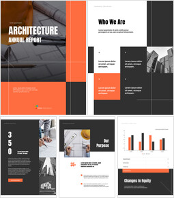 Architecture Annual Report Template PowerPoint Theme_00