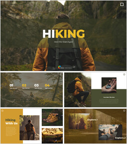 Autumn Hiking elegant ppt templates_00