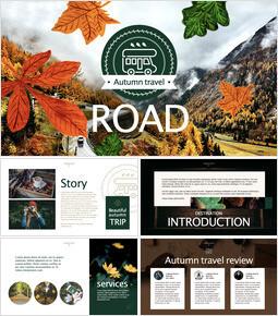Autumn Travel keynote theme_40 slides