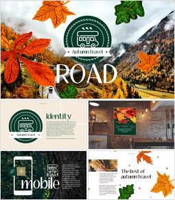Autumn Travel Simple PowerPoint Template Design_00