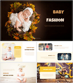 Baby Fashion company profile ppt template_00