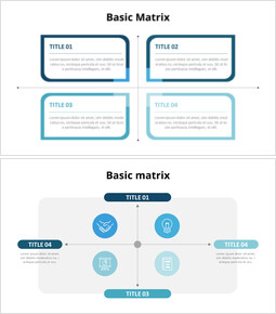 Basic Matrix Infographic Diagram_6 slides