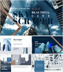 Beautiful City Skyscraper Google Slides Themes_00
