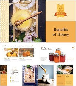 Benefits of Honey keynote template download_00