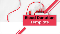 Blood donation Cover pitch deck design_00
