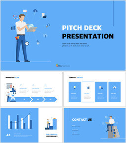Blue Business Illustration Pitch Deck PowerPoint to Keynote_00