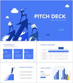 Blue Pitch Deck Template Design Multipurpose Keynote Template_00
