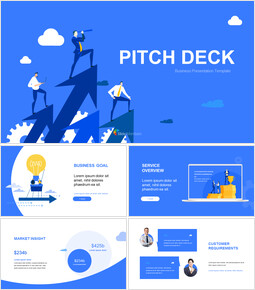 Blue Pitch Deck Template Design slide deck_00