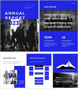 Blue Simple Layout 연례 보고서 비즈니스 사업 피피티_00