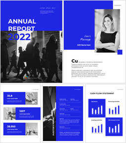 Blue Simple Layout Annual Report team presentation template_00
