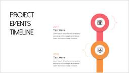 Cronologia degli eventi del progetto aziendale Coperchio del ponte di scorrimento di PowerPoint_2 slides