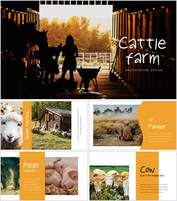 Cattle Farm Business PowerPoint Templates_40 slides