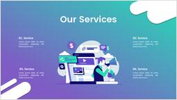 Cloud Service Our Services PPT Background_00