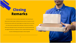 Courier service Closing remarks Template Design_00
