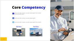 Courier service Core Competency pitch deck design_00