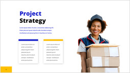 Courier service Project Strategy Single Layout_1 slides
