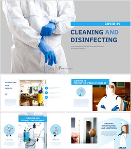 COVID-19 Cleaning and Disinfecting Google Slides Template Diagrams Design_00