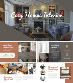 Cozy Home Interior company profile ppt template_00