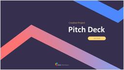 창의적인 프로젝트 피치덱 커버 디자인 PPT 덱 디자인_00