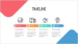 Delivery Colorful Timeline Single Template_1 slides