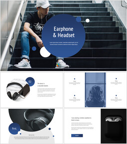 Earphone & Headset Google Slides mac_41 slides