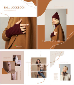 Fall Lookbook Abstract Design PowerPoint Table of Contents_00