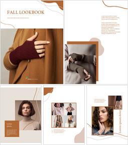 Fall Lookbook Abstract Design template google slides_00